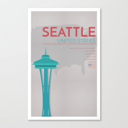 Seattle Poster Canvas Print