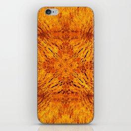 Golden Orange Colorburst iPhone Skin