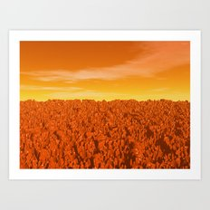 Sunrise On Planet Mars Art Print