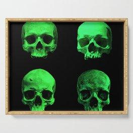 Skull quartet green Serving Tray