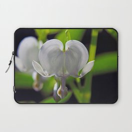 White Bleeding Heart Laptop Sleeve