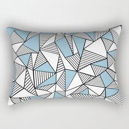 Abstraction Lines Sky Blue Rectangular Pillow