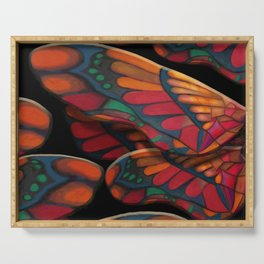 """""""A thousand colors of butterfly wings"""" Serving Tray"""