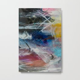 Large Contemporary Abstract Painting Metal Print