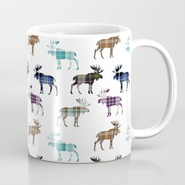 Plaid Moose Coffee Mug