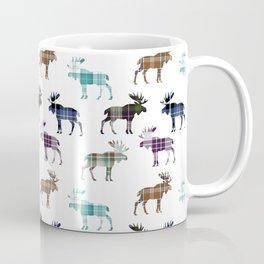 Plaid Moose Coffee Mug