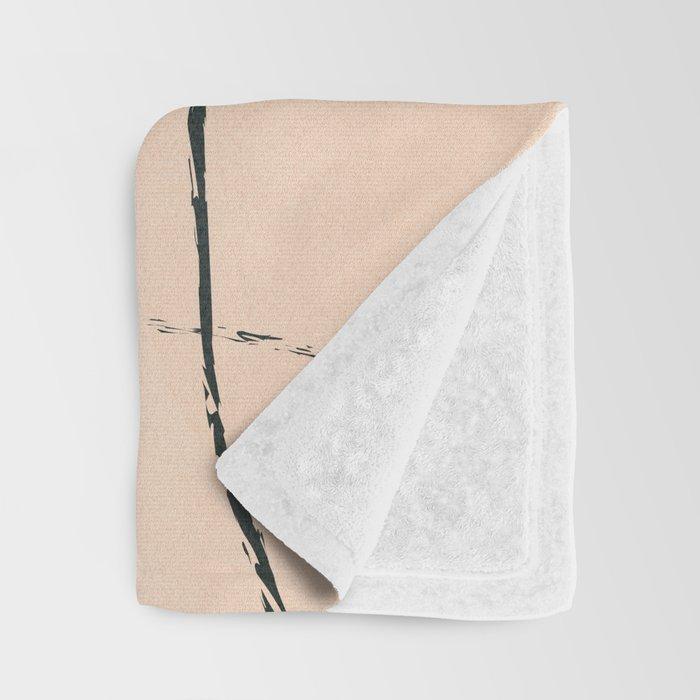 Minimal Line in Nature II Throw Blanket