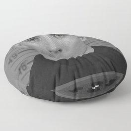 Jack Kerouac Naval Enlistment Mug Shot Floor Pillow
