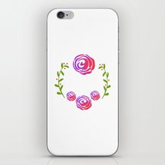 Floral Round iPhone & iPod Skin