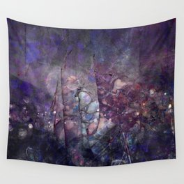 Cracked Purple Geode Texture Wall Tapestry