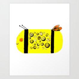 Pollen Bee Art Print