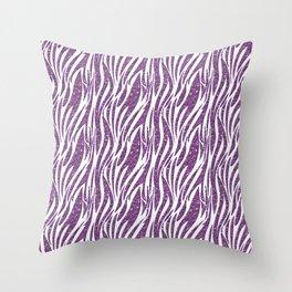 glitter zebra Throw Pillow