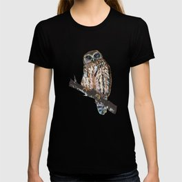 Mrs Ruru, New Zealand Morepork Owl T-shirt