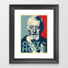 OBI WAN the Only Hope Framed Art Print