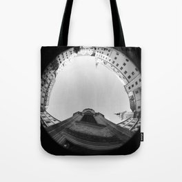 The spiral staircase in the Renaissance castle Hartenfels in Torgau / Saxony 7 Tote Bag