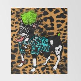 Punk Dog Throw Blanket