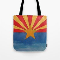 arizona Tote Bags featuring Arizona by Michael Creese