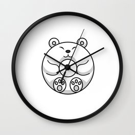 Polar Bear Is A Cute Donut Wall Clock