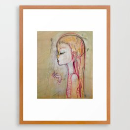 Tornado Lady Framed Art Print