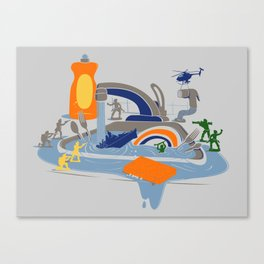 Sink Sank Sunk Canvas Print