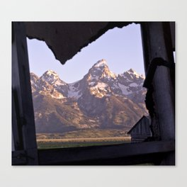 My Heart is in the Tetons  Canvas Print