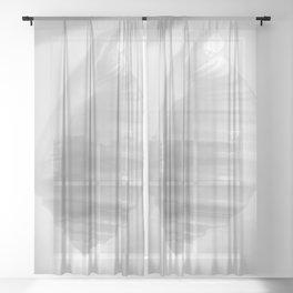 White Seashell on White by Murray Bolesta. Heavenly! Sheer Curtain