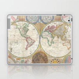 Map of the World in Hemispheres Laptop & iPad Skin
