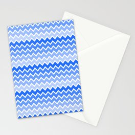 Blue Ombre Chevron Stationery Cards