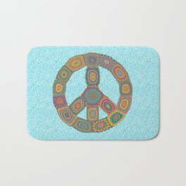 Peace is Groovy Bath Mat