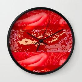 hot summer glitch Wall Clock
