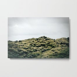 Moss Covered Lava Metal Print