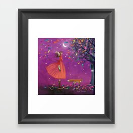 stay calm & relish the moment Framed Art Print