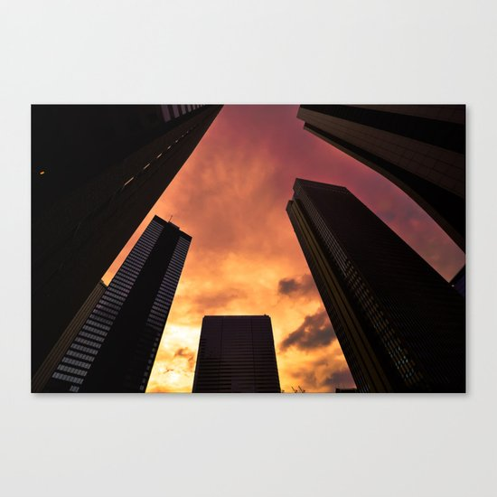 Sunset in Downtown Tokyo Canvas Print