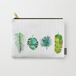 Four Tropical Leaves Carry-All Pouch