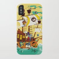pirate ship iPhone & iPod Cases featuring Animal Pirate Ship by Josh Cleland