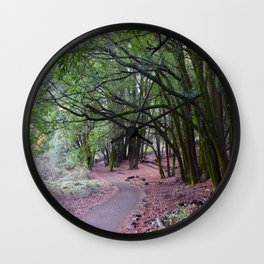 the mossy path Wall Clock