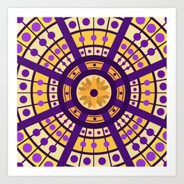 Complimentary & Symmetry - Yellow and Purple Art Print