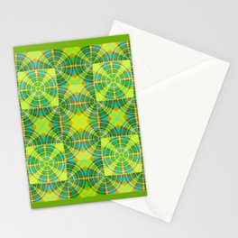 Retro Green Mosiac Stationery Cards