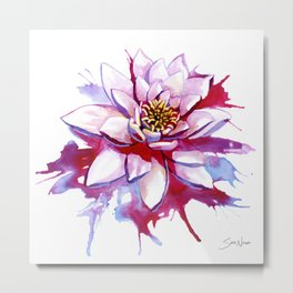 Bleeding Lotus Metal Print