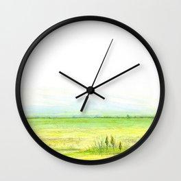 Green meadow Wall Clock