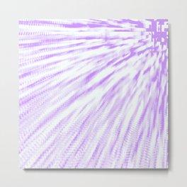 Lavender. Pixel Wind Metal Print