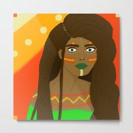 Tribal girl Metal Print