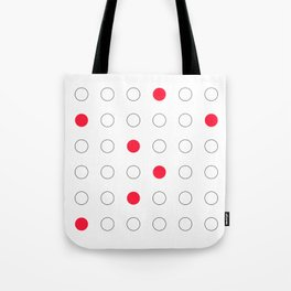 Red dots Tote Bag