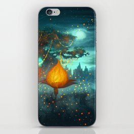 Magical lights iPhone Skin