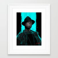 j dilla Framed Art Prints featuring J Dilla poster by Escobarr