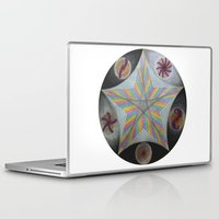 pentagram Laptop & iPad Skins featuring Galactic Pentagram (ANALOG zine) by johngerGEOs