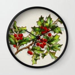 HollyBerries20150807 Wall Clock