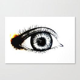 Looking In #1 - Original sketch to digital art Canvas Print