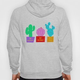 Cactus Illustration Colorful Plants Nature Cacti Hoody
