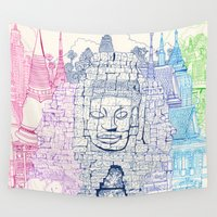 thailand Wall Tapestries featuring Angkor Wat & Thailand by cheism